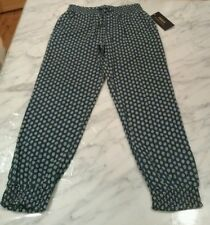 NWT Youth Girls Polo Ralph Lauren Blue Patterned Boho Soft Jogger Pants Size: 6