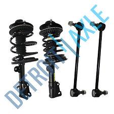 4pc Kit: Pair (2) Complete Ready Strut Assembly + 2 Sway Bar Link Chrysler Dodge