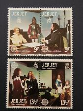 JERSEY - 1980, Links with Britain, set of 4 stamps (2 pairs)