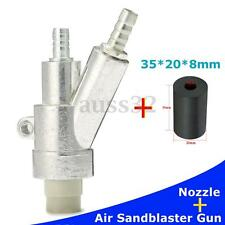 "Silver 6.3"" Air Sandblaster Gun Kit Spray Gun + 1Pcs 35mm Boron Carbide Nozzle"
