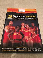 Programma UFFICIALE DA 2005 CAMPIONATI EUROPEI ATLETICA LEGGERA INDOOR A MADRID