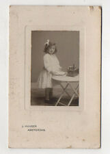 PHOTO CARTE CABINET Enfant Jouet Jeu Petite cuisine J. HUIJSEN Amsterdam 1900