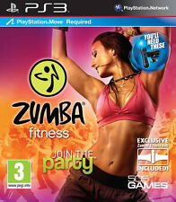 Zumba FITNESS PS3 MOVE JEU * en excellent état *