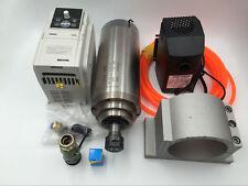 3KW ER20 Spindle Motor Water-cooled 220V 24000rpm & 3.7KW VFD Inverter CNC Kit