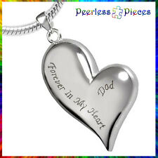 Peerless Pieces Urn Necklace Stainless Steel Forever In My Heart Dad #43