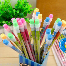24Pcs Lovely Cartoon Pencils With Eraser School Office Supplies Students Gift