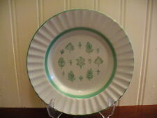 "Small Arabia of Finland Hand Painted Green Leaf Motif 6.5"" Plate"