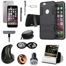 Kickstand Case Dock Charger Bluetooth Earphones Accessory Kit For iPhone 7 Plus