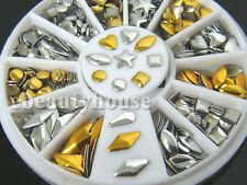 7 Styles Silver/Gold Nail Art 3D Glitter Rhinestones Gems Decoration Wheel #56j