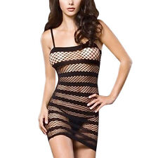 Women's Fish Net Lingerie Babydoll Underwear Nightwear Mini Dress G-string