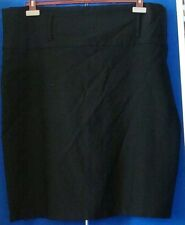 EUC Lovely DOTS Knee Length BLACK SKIRT Plus Sz 22 Rayon Nylon & Spandex WASHABL