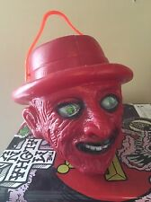 Blow Mold Mini Freddy Krueger Bucket Made In Mexico Monster Horror Toy