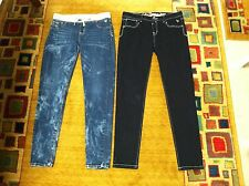 Justice, 2-Denim Blue Jean, Girls, Pre Teen, Size 16 1/2, Simply Low Jegging.