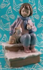 Lladro # 8023 ~ ROOM FOR THREE ~ Girl on Steps W/Cats *MIB*  BUY 1 GET 1 50% OFF