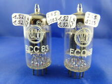 Matched pair ecc83 Valvo NOS i65/δ3b3 1963 # Same Production/batch codici (6775)