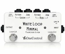 One Control Minimal Series White Loop Effect Pedal