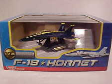 US Navy BLUE ANGELS F-18 HORNET Jet Plane Diecast 1/72 scale Motormax 9 inch
