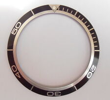 Bezel Insert Black for Omega Planet Ocean 38.03 x 30.63 mm