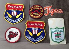 Lot of 6 Patches Patch Baseball Bowling Aviation New & Used As Pictured