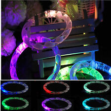 LED Bracelet Bubble Colour Changing Bangle Party Blinking Glow in the dark