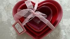 Set of 3 'HAPPY VALENTINE'S DAY' Nesting Serving Bowls, BRAND NEW, w/ tags
