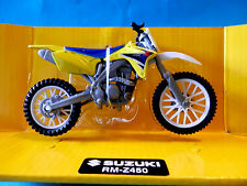 Suzuki RMZ 450 1:18 DieCast Motocross Mx Motorbike Toy Model Bike New Ray GSX-R