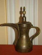 Antique/Old Vintage Handmade Turkish/Arabic Copper Tea/Coffee Pot w/Brass Handle