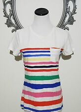 Talbots Top Tee Pullover T-shirt Multi-color striped Size Medium 8-10 New