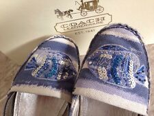 Coach Rorie Navy Canvas Espadrilles Womens Shoes Size 8.5 B *EUC*