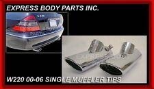 New Mercedes Benz 2000 - 2006 S Class Single Chrome Muffler Tips Pair S430 W220