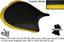 YELLOW& BLACK DESIGN 2 CUSTOM FITS DUCATI 1198 848 1098 FRONT LEATHER SEAT COVER