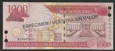 Dominican Republic 1000 Pesos Oro 2004 Specimen Unc