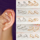 Non Piercing Silver Gold Plated Cartilage Ear Cuff Earrings Wrap Clip On Jewelry