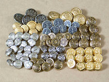 Lot of 10 sets / 84 pcs Vintage Metal Buttons_Tailor Sewing_NJ seal and CT logo