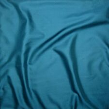 "Silk/Cotton SATIN SATEEN Fabric TEAL GREEN 10""x17"" remnant"