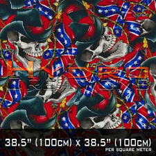 HYDROGRAPHIC FILM FOR HYDRO DIPPING WATER TRANSFER FILM COWBOY SKULL FLAG SKULLS