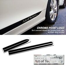 [TECHNICA] SPORTS DOOR LINE Decal Stickers Black Chrome Logo for HYUNDAI SONATA