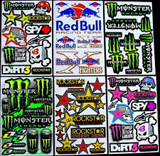 6 Sheets scooter motocross Stickers quad mx DIRT Energy Rockstar BMX Bike KYy