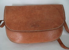 VINTAGE TAN BROWN LEATHER SHOULDER BAG HANDBAG SATCHEL