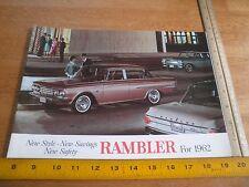1962 Rambler cars dealers American Ambassador Classic brochure
