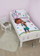 Disney Doc McStuffins Findo Toddler Panel  Junior Bedding Duvet Quilt Cover Set