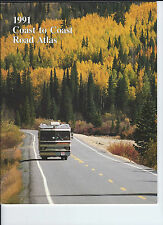 Coast to Coast Road Atlas 1991 RV Recreational Vehicle Maps Travel Collectible