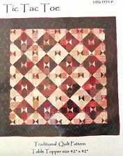 """Tic Tac Toe wallhanging table topper quilt Pattern 42"""" scrap lover"""