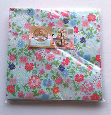 10 Paper Napkins BLOOMING BEAUTIFUL Blue Pinks Purple DITSY FLOWERS TEA PARTY