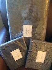 POTTERY BARN Washed Velvet FULL/QUEEN Quilt & 2 Stand Shams NEW - Flagstone Gray
