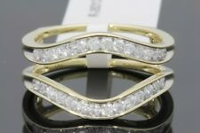 10K YELLOW GOLD SOLITAIRE ENHANCER .57 CARAT DIAMOND RING GUARD WRAP WEDDING BAN