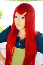 Naruto Uzumaki Kushina Red Long Cosplay Costume Party Hair Wig + Free Wig Cap