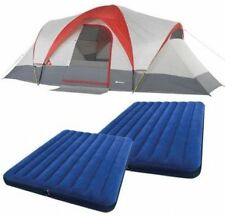 Outdoor Tent  9-Person Camping Hiking Family Cabin & BONUS 2 Queen Airbeds  NEW