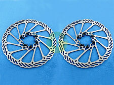 2 x Moutain MTB Bike Stainless Steel Disc Brake Rotor in Silver BD-09 160mm