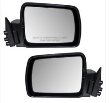 Side View Mirrors Manual Pair RH LH for 1984-1996 Jeep Cherokee XJ